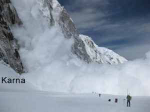 An Avalanche Engulfs Everest Camp 1