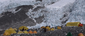 Mess Tents and Sleeping Tents at Everest Camp 2